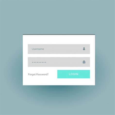 simple login form template simple login form template vector premium