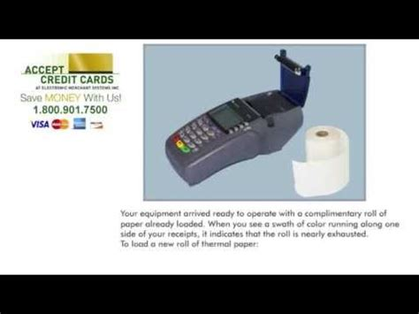 How To Make A Paper Credit Card - how to replace paper in the verifone vx510 credit card