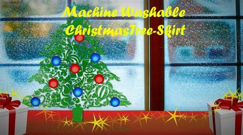 machine washable christmas tree skirt linens n curtains