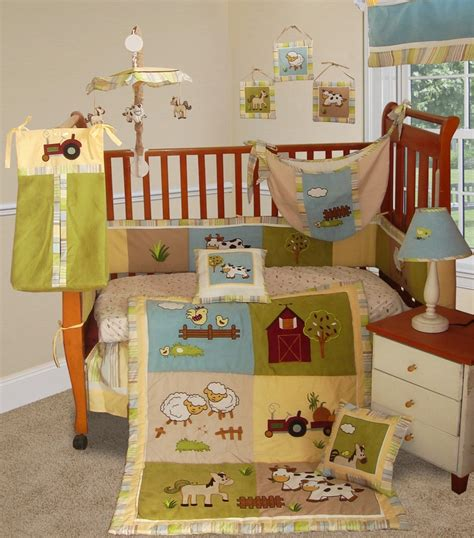 Farm Crib Set baby boutique on the farm 15 pcs boy crib nursery bedding set
