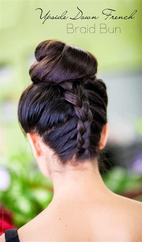 tutorial upside hairbun newbie upside down french braid bun hair tutorial