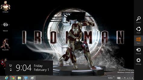 theme windows 8 1 iron man iron man 3 theme for windows 8 13 july 2013 offical