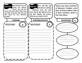 benjamin franklin biography for 4th graders how ben franklin stole the lightning 4th grade trifolds