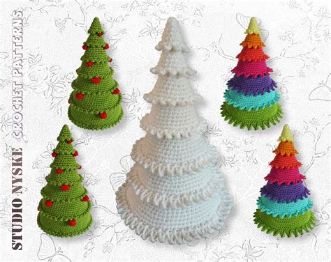 roseola christmas tree pattern crochet christmas tree 3 different holiday amigurumi