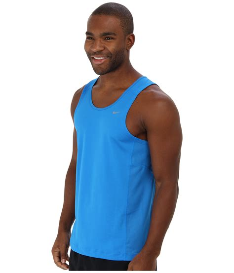 Singlet Nike nike miler singlet team in blue for photo blue photo blue reflective lyst