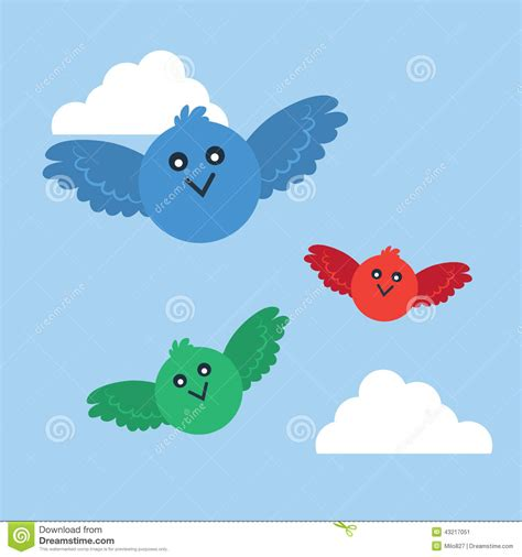 flying color baby birds flying colors stock vector illustration of beak