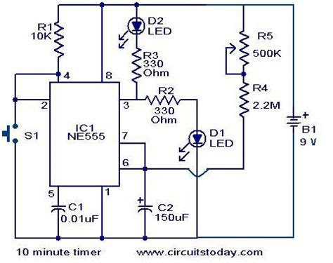 10 minute timer circuit electronic circuits and
