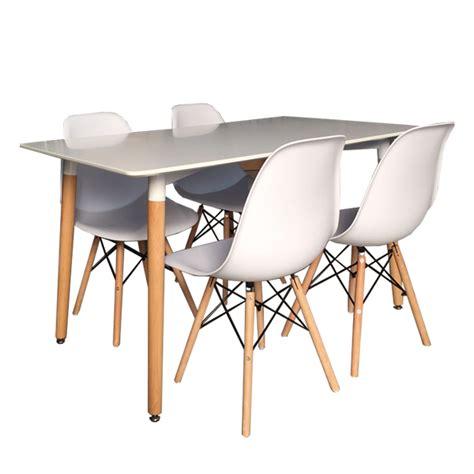 sillas y mesas conjunto mesa 4 sillas estilo n 243 rdico tiendas