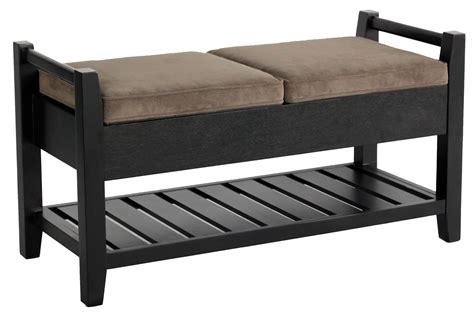 black wooden storage bench furniture versatile black wooden storage bench as the