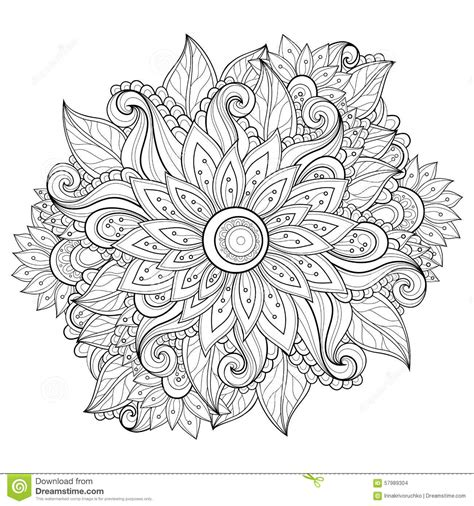 vector monochrome floral background stock vector image