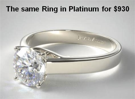 what s the best engagement ring metal in comparison