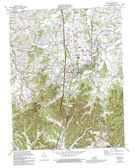 kentucky map berea berea topographic map ky usgs topo 37084e3