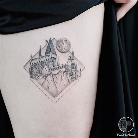 hogwarts castle tattoo hogwarts castle outline www pixshark images
