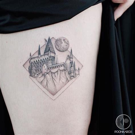 hogwarts tattoo hogwarts castle outline www pixshark images