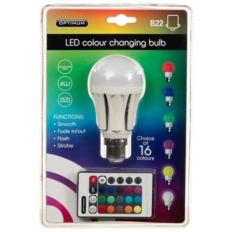 color changing bulb optimum led colour changing light bulb b22 diy bulbs