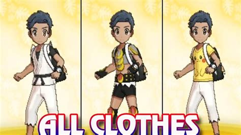 haircuts usum pokemon ultra sun and ultra moon all clothes trainer