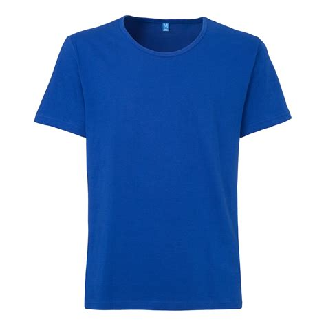 Tshirt Blur tt19 wide neck t shirt blue fairtrade gots gentlemen t