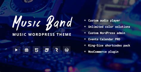 live event themes music band live event and music club wordpress theme by
