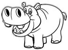 hippo coloring beautiful 3433