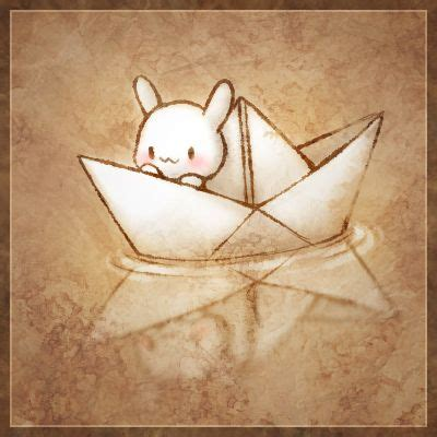 bunny boat rabbit paper boat uhm art pinterest boating