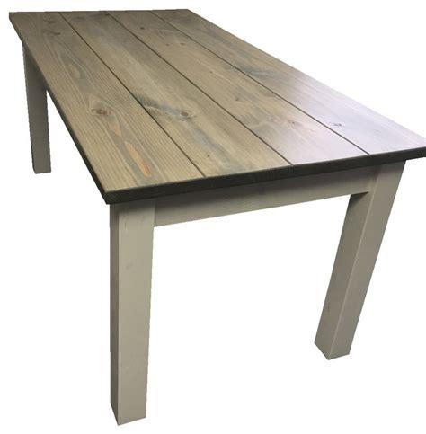 Beachy Dining Table Drifwood Grey Harvest Table Style Dining Tables By Ezekiel Stearns