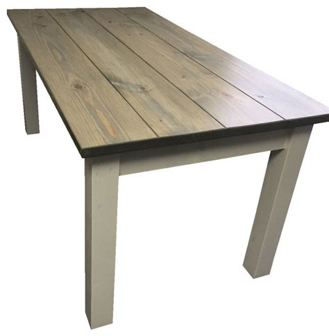 Drifwood Grey Harvest Table   Beach Style   Dining Tables