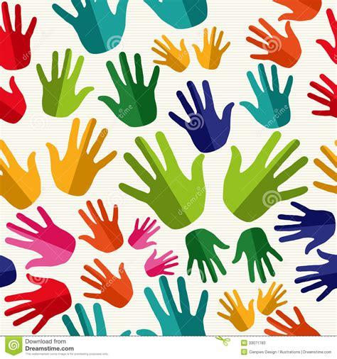 image human pattern diversity human hands seamless pattern stock vector