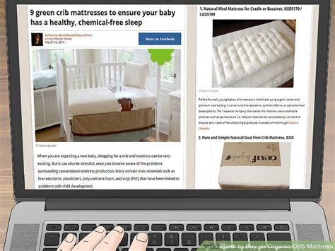 Buy Crib Mattress 3 Ways To Buy An Organic Crib Mattress Wikihow