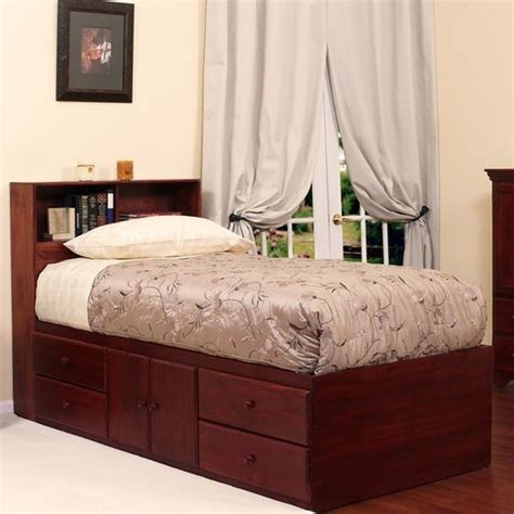 twin xl bed with storage extra long twin storage bed 4 drawers 2 doors in birch