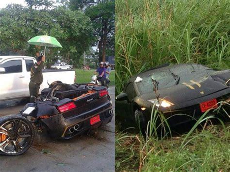 worst bugatti crashes lamborghini gallardo crash in splits car in half