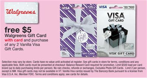 Vanilla Gift Card Not Working - 5 walgreen gift card with the purchase of 2 vanilla visas frequent miler