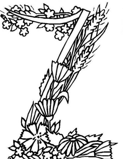alphabet coloring pages with flowers floral alphabet coloring pages coloring pages