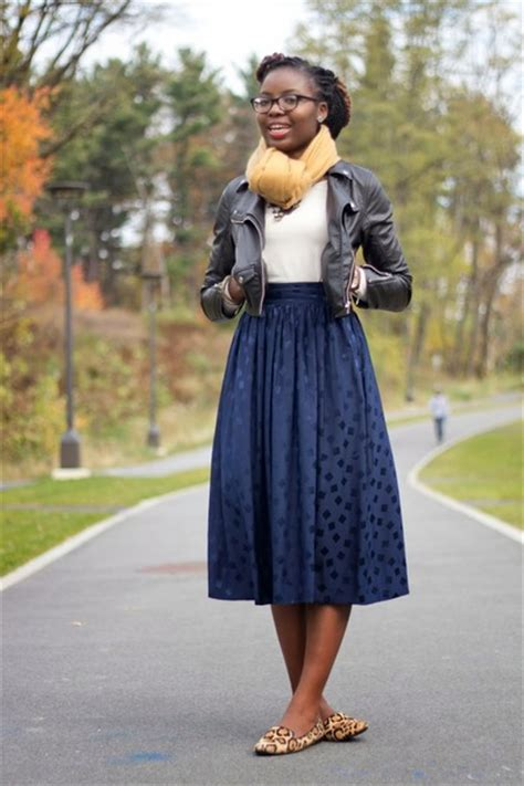 navy midi thrifted vintage skirts black faux leather h m