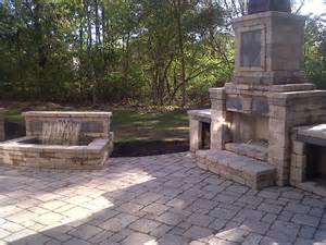 brick fireplace patio traditional