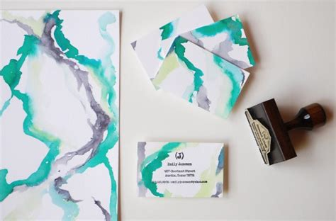 Handmade Paper Visiting Cards - diy rubber st calling cards