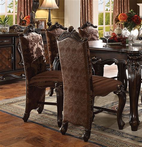 versailles dining set in cherry oak finish 7 piece set 96 quot l versailles counter height table 5 piece dining set in