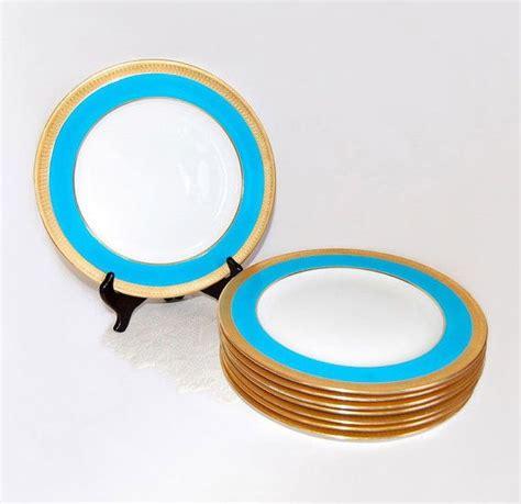 gold dining set plates reserved listing minton blue gold dinner plates
