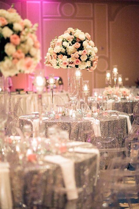 wedding reception decorations houston wedding silver and pink modwedding