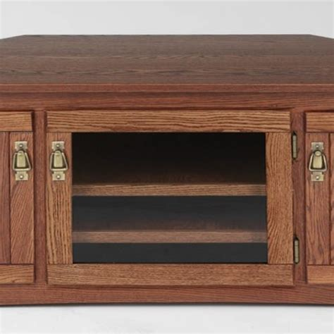 mission style corner tv cabinet solid oak mission style corner tv stand w cabinet 55