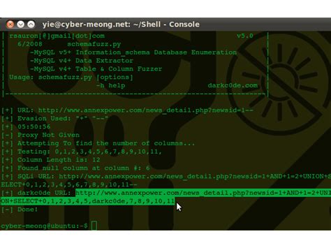 tutorial deface sql injection tutorial deface website sql injection with schemafuzz