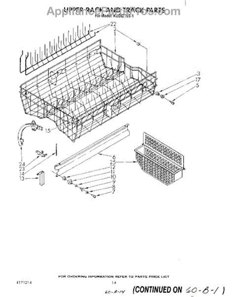 whirlpool dishwasher rack parts whirlpool 4171611 dishwasher upper rack roller retainer kit appliancepartspros com