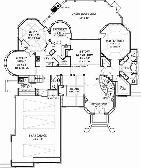 floor plan house hennessey house 7805 4 bedrooms and 4 baths the house designers