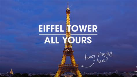 Pajangan Air Eiffel Tower Piramid 10 50 Eiffel Tower Here S How You Can Rent It Through Homeaway Today