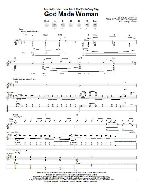 keith urban songs guitar chords god made woman by keith urban guitar tab guitar instructor
