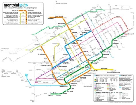 montreal metro map montreal subway map with streets my