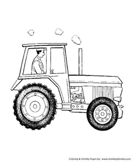 Farm Equipment Coloring Pages Art Printable Free Activity Farm Tractor Coloring Pages