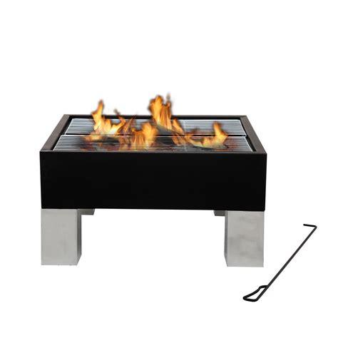 grill mit feuerstelle tepro feuerstelle feuerschale mit 2 grillroste laredo