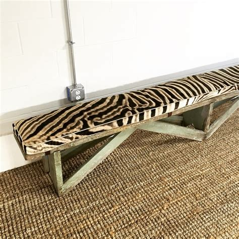 extra long bench cushion extra long vintage farmhouse bench with zebra cushion