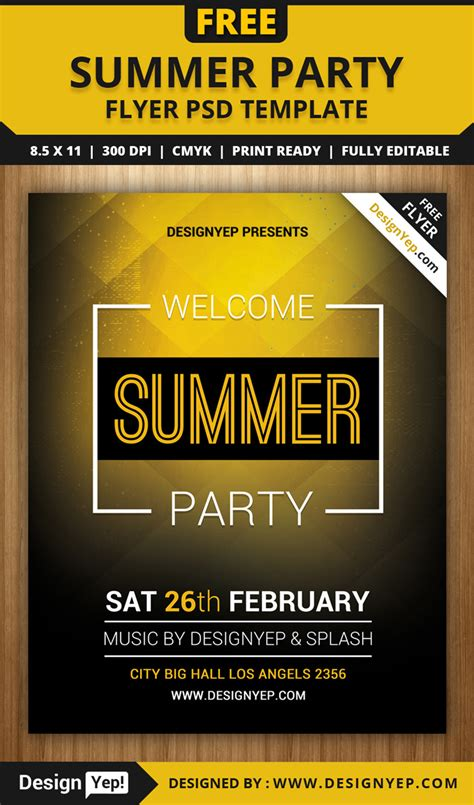 55 free party event flyer psd templates designyep