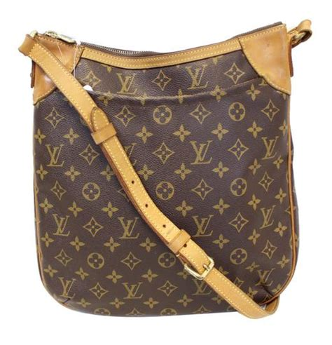 louis vuitton monogram canvas brown odeon mm crossbody